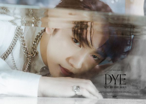 Tags: K-Pop, Got7, Park Jinyoung (Junior), Text: Song Title, Ring, Chains, Text: Artist Name, Text: Album Name, English Text, Serious, Dye
