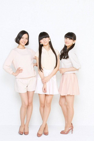 Tags: J-Pop, Perfume (Group), A-chan, Kashiyuka, Nocchi, Pink Skirt, Full Group, Medium Hair, Pink Shorts, Light Background, Three Girls, Hand On Hip