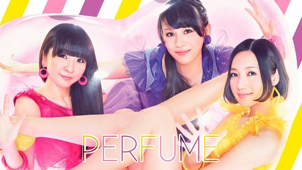 Tags: J-Pop, Perfume (Group), A-chan, Kashiyuka, Nocchi, Sleeveless, Pink Outfit, Purple Dress, Yellow Dress, Pink Dress, Purple Outfit, Bare Shoulders