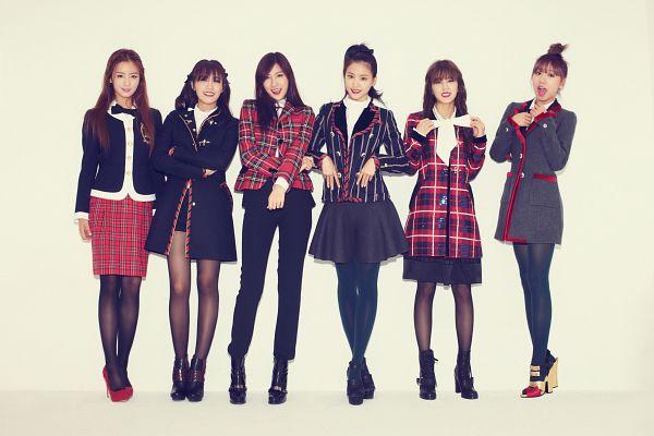 Tags: K-Pop, Apink, Kim Nam-joo, Oh Ha-young, Son Na-eun, Yoon Bo-mi, Park Cho-rong, Jung Eun-ji, Checkered, Black Skirt, Full Group, Checkered Skirt