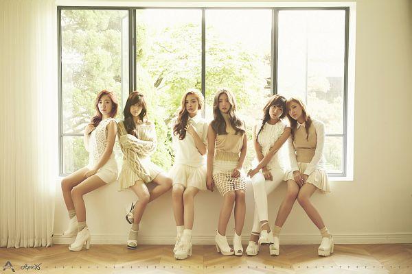 Tags: K-Pop, Apink, Kim Nam-joo, Oh Ha-young, Son Na-eun, Yoon Bo-mi, Park Cho-rong, Jung Eun-ji, White Outfit, White Dress, Group, Pink Luv