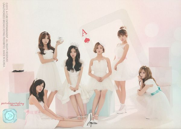 Tags: K-Pop, Apink, Yoon Bo-mi, Park Cho-rong, Jung Eun-ji, Kim Nam-joo, Oh Ha-young, Son Na-eun, White Dress, Crouching, Card, Sitting On Ground