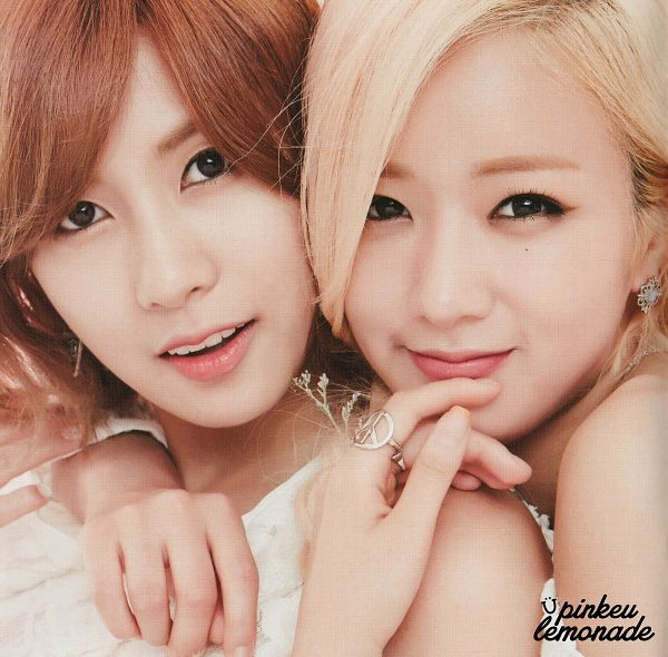 Tags: K-Pop, Apink, Yoon Bo-mi, Oh Ha-young, Two Girls, White Dress, Duo, Hug, Hug From Behind, White Outfit, Holding Close, Ring