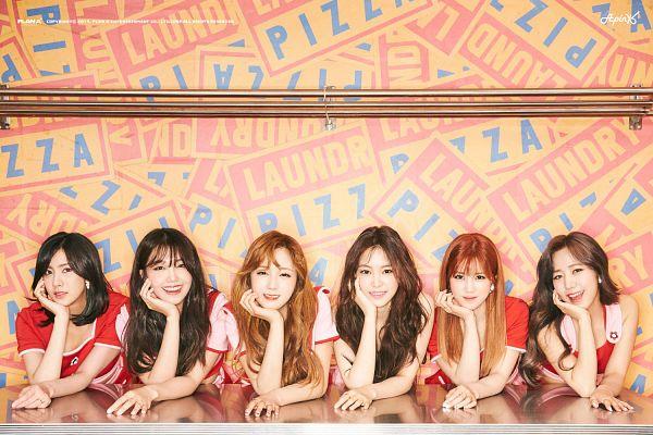Tags: K-Pop, Apink, Plan A Entertainment, Park Cho-rong, Jung Eun-ji, Kim Nam-joo, Oh Ha-young, Son Na-eun, Yoon Bo-mi, Text: Company Name, Bangs, Short Sleeves