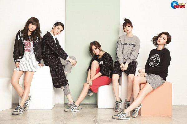 Tags: C-Pop, Popu Lady, Chen Tingxuan, Bao Er, Dayuan, Hongshi, Liu Yushan, Quintet, Group, Full Group, Five Girls, Magazine Scan
