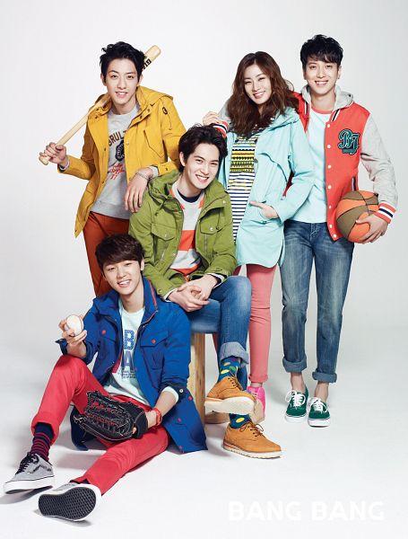 Tags: K-Pop, CNBLUE, Jung Yong-hwa, Kang Min-hyuk, Lee Jung-shin, Lee Jong-hyun, Kang Sora, Ball, Quintet, Baseball Bat, Baseball, Group