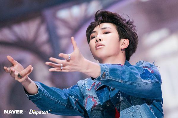 Tags: K-Pop, BTS, Fake Love, Rap Monster, Denim Jacket, Close Up, Ring, Love Yourself: Tear, Dispatch