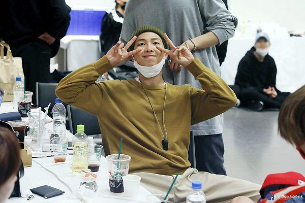 Tags: K-Pop, Bangtan Boys, Rap Monster, English Text, Text: Artist Name, Group, Text: URL, Facebook