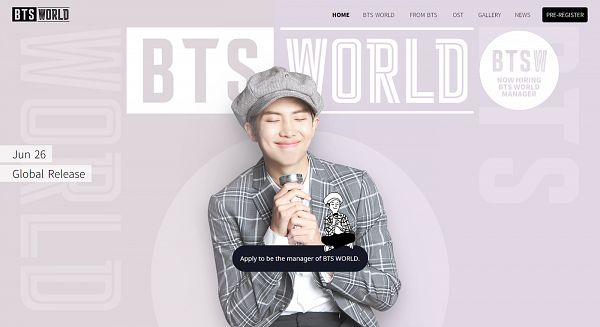 Tags: K-Pop, BTS, Rap Monster, Dimples, Hat, Gray Jacket, Torch, Korean Text, English Text, Gray Headwear, Purple Background, Eyes Closed