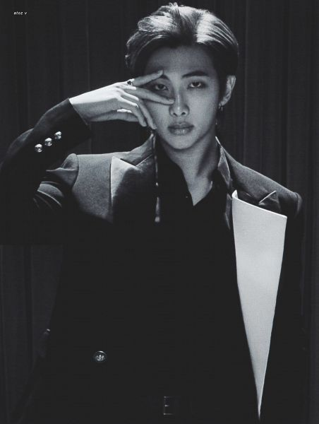 Tags: K-Pop, BTS, Rap Monster, Serious, Ring, Suit, Curtain, Scan, Map of the Soul: 7 ~The Journey~