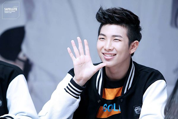 Tags: K-Pop, BTS, Rap Monster, Wave, Looking Ahead, Grin, Wallpaper