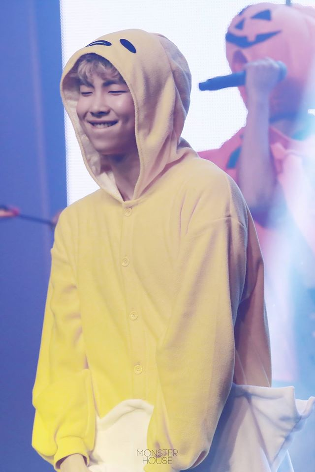 Tags: K-Pop, BTS, Rap Monster, Hood Up, Yellow Outfit, Hood, Cosplay