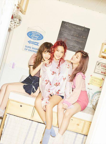 Tags: SM Town, K-Pop, Red Velvet, Irene, Yeri, Wendy, Three Girls, Trio, Hand On Shoulder, Twin Tails, Short Sleeves, Bare Legs
