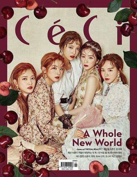 Tags: SM Town, K-Pop, Red Velvet, Joy, Wendy, Kang Seul-gi, Irene, Yeri, Fruits, Cherry, Magazine Scan, CeCi