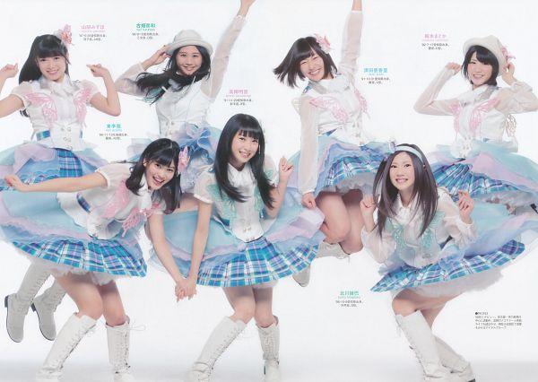 Tags: J-Pop, SKE48, Takayanagi Akane, Umemoto Madoka, Suda Akari, Azuma Rion, Kitagawa Ryoha, Yamada Mizuho, Furuhata Nao, Hat, Japanese Text, Arms Up