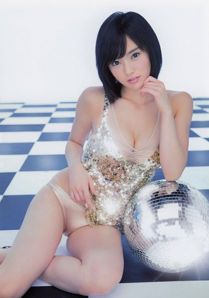 Tags: NMB48, Sayaka Yamamoto, Cleavage, Underwear, Sitting On Ground, Suggestive, Chin In Hand, Disco Ball, Android/iPhone Wallpaper
