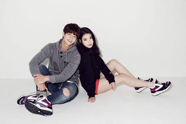 Tags: K-Pop, K-Drama, IU, Song Jae-rim, Light Background, No Background, Duo, White Background, Shoes, Sneakers, Sbenu, Wallpaper