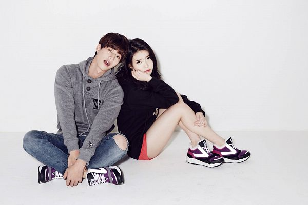 Tags: K-Pop, K-Drama, IU, Song Jae-rim, No Background, Duo, White Background, Shoes, Sneakers, Light Background, Sbenu, Wallpaper