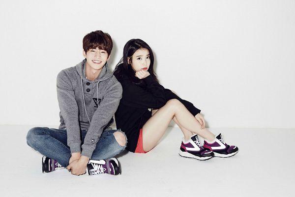 Tags: K-Pop, K-Drama, IU, Song Jae-rim, Shoes, Sneakers, Light Background, No Background, Duo, White Background, Wallpaper, Sbenu