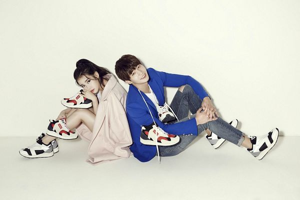Tags: K-Drama, K-Pop, IU, Song Jae-rim, Sneakers, Light Background, No Background, Duo, White Background, Shoes, Jeans, Wallpaper