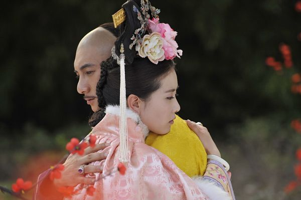 Tags: C-Drama, Nicky Wu, Liu Shishi, Chinese Clothes, Hug, Mustache, Duo, Pink Dress, Couple, Traditional Clothes, Bracelet, Partially Bald