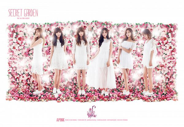Tags: K-Pop, Apink, Son Na-eun, Yoon Bo-mi, Park Cho-rong, Jung Eun-ji, Kim Nam-joo, Oh Ha-young, White Outfit, White Dress, Flower, Wallpaper
