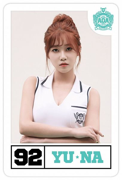 Tags: K-Pop, AOA (Ace Of Angels), Heart Attack (AOA), Seo Yuna, Text: Artist Name, Card, Android/iPhone Wallpaper