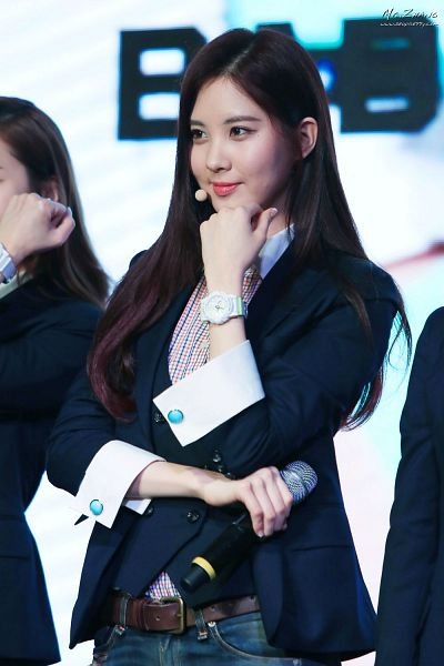 Tags: Girls' Generation, Seohyun, Black Jacket, Looking Away, Watch, Jeans, Chin In Hand, Android/iPhone Wallpaper, Casio