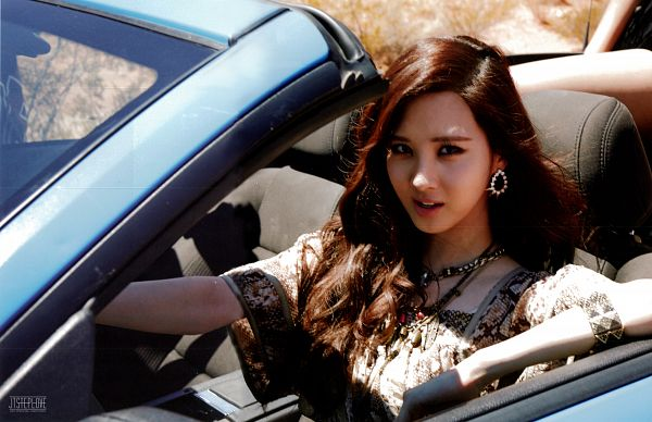 Tags: K-Pop, Girls' Generation, Seohyun, Brown Outfit, Necklace, Brown Dress, In Car, Car, Wallpaper, Girls' Generation In Las Vegas