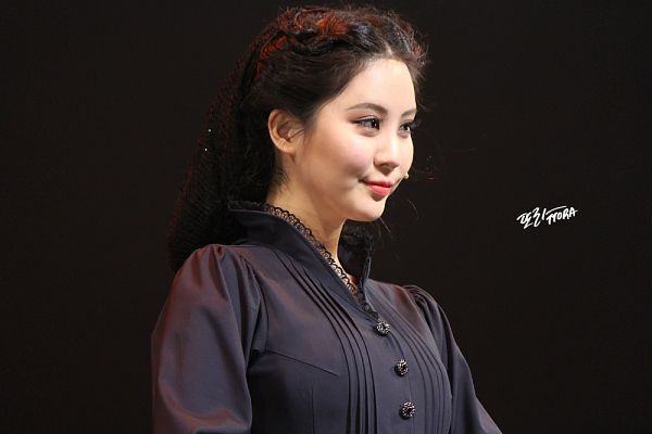 Tags: K-Pop, Girls' Generation, Seohyun, Looking Ahead, Black Dress, Dark Background, Black Background, Black Outfit, Ttora