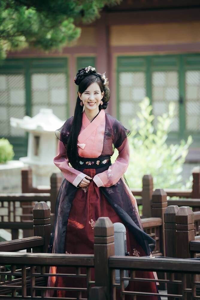 Tags: K-Pop, K-Drama, Girls' Generation, Seohyun, Skirt, Traditional Clothes, Korean Clothes, Jewelry, Hair Ornament, Belt, Red Skirt, Earrings