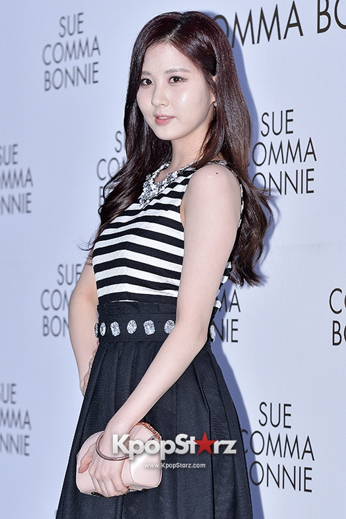 Tags: SM Town, K-Pop, Girls' Generation, Seohyun, Skirt, Striped Shirt, Black Skirt, Hand On Hip, Suecomma Bonnie
