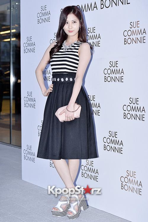 Tags: SM Town, K-Pop, Girls' Generation, Seohyun, Hand On Hip, High Heels, Striped Shirt, Skirt, Black Skirt, White Footwear, Suecomma Bonnie