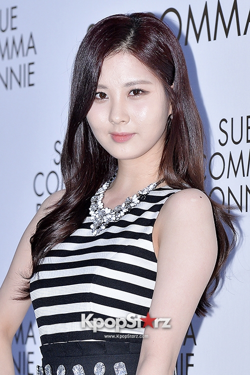 Tags: SM Town, K-Pop, Girls' Generation, Seohyun, Necklace, Skirt, Striped Shirt, Black Skirt, Suecomma Bonnie