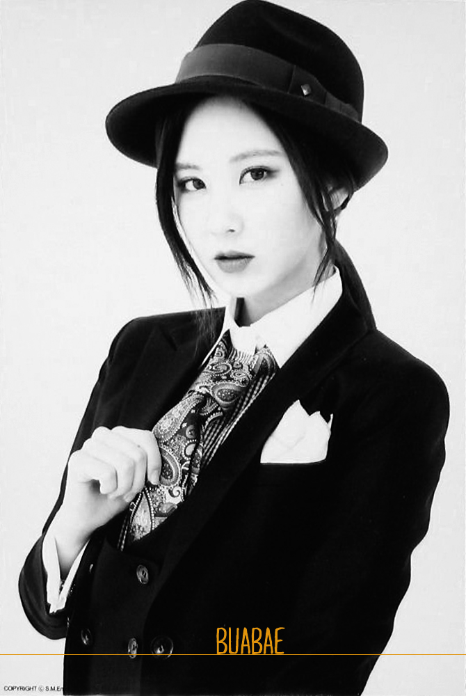 Tags: Girls' Generation, Mr.Mr., Seohyun, Black Jacket, Hat, Checkered Shirt, Light Background, Tie, White Background, Checkered, Make Up, Black Headwear