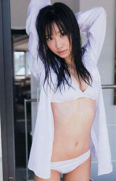 Tags: J-Pop, SKE48, Shibata Aya, Midriff, Wet, Panties, Wet Hair, Arms Up, Lingerie, Open Shirt, Black Eyes, Bra