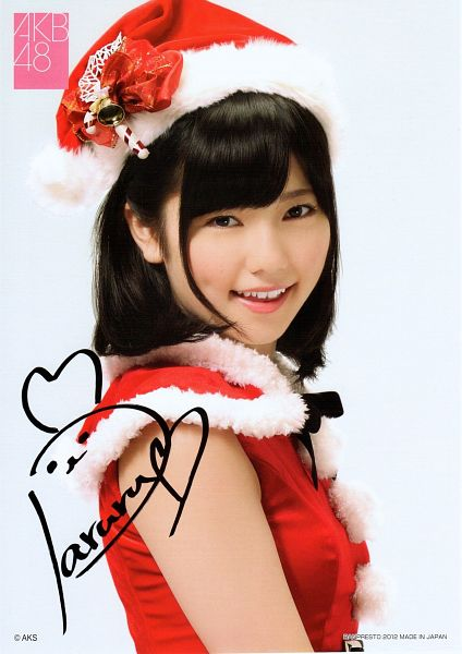 Tags: J-Pop, AKB48, Shimazaki Haruka, Hat, Text: Brand Name, Christmas Outfit, Red Outfit, Cosplay, Christmas Hat, Christmas, Android/iPhone Wallpaper