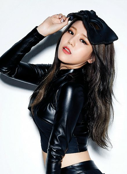 Tags: K-Pop, AOA (Ace Of Angels), Like A Cat, Shin Hyejeong, Mask, Black Outfit, Black Dress, Android/iPhone Wallpaper
