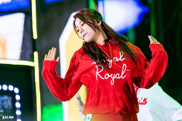 Tags: K-Pop, AOA (Ace Of Angels), Shin Hyejeong, Looking Away, Arms Up, Red Shirt, Eyes Half Closed, Wallpaper, Rolhh