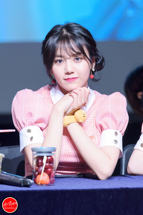 Tags: K-Pop, AOA Cream, AOA (Ace Of Angels), Shin Hyejeong, Pink Outfit, Twin Buns, Bracelet, Strawberry, Hair Buns, Cherry, Hair Up, Blue Eyes