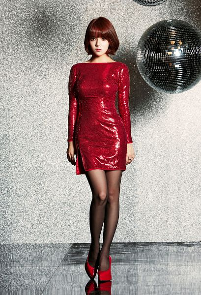 Tags: K-Pop, AOA (Ace Of Angels), Miniskirt (Song), Shin Jimin, Red Dress, Red Footwear, Shoes, Android/iPhone Wallpaper