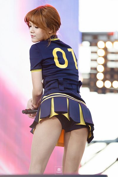 Tags: K-Pop, AOA (Ace Of Angels), Shin Jimin, Blue Skirt, Lingerie, From Below, Blue Shirt, Skirt, Suggestive, Eyes Closed, Back, Panties