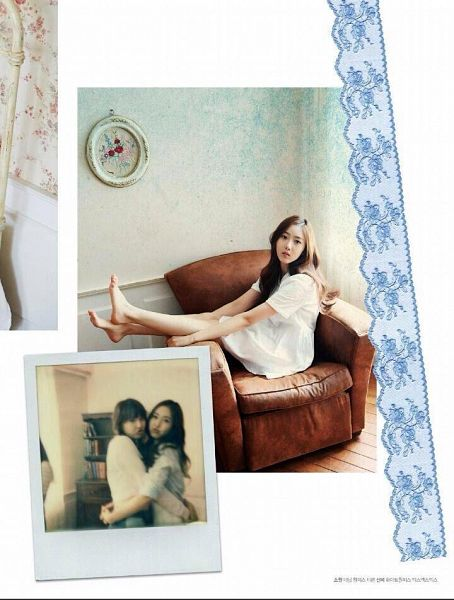 Tags: K-Pop, G-friend, Jung Yerin, SinB, White Dress, White Outfit, Armchair, Sitting On Chair, Serious, Bent Knees, Hug, Holding Close