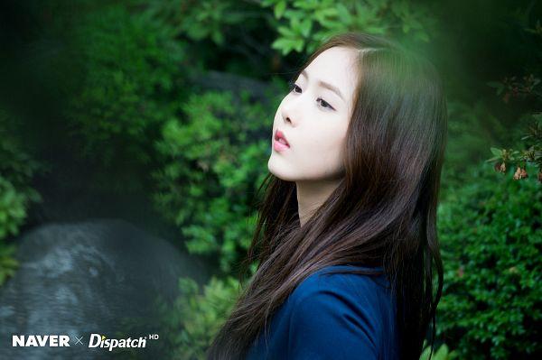 Tags: K-Pop, G-friend, SinB, Serious, Plant, Looking Ahead, Black Eyes, Blue Shirt, Parallel, Dispatch