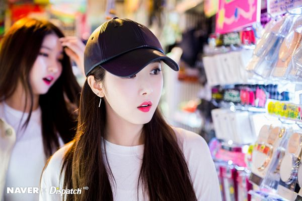 Tags: K-Pop, G-friend, SinB, Looking Ahead, Make Up, Hat, Dispatch
