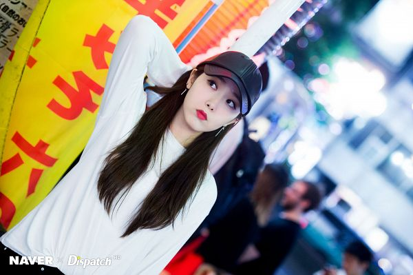 Tags: K-Pop, G-friend, SinB, Looking Away, Hat, Make Up, Dutch Angle, Dispatch