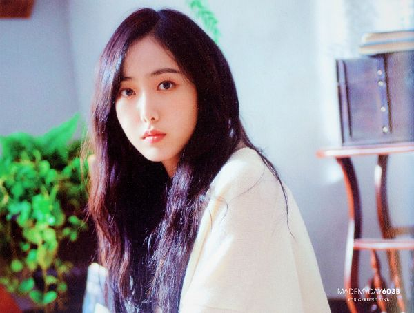 Tags: K-Pop, G-friend, SinB, White Outfit, White Dress, Serious, Plant, Time For Us