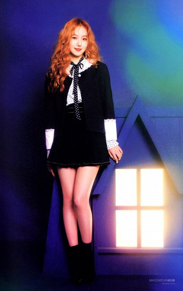 Tags: K-Pop, G-friend, SinB, Black Dress, Black Footwear, Red Hair, Red Lips, Black Outfit, Time for the Moon Night