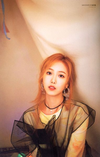 Tags: K-Pop, G-friend, SinB, Necklace, Red Hair, Red Lips, Time for the Moon Night