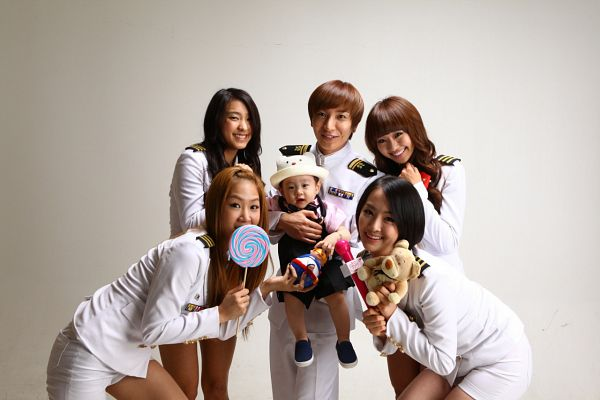 Tags: K-Pop, Sistar, Hyorin, Dasom Kim, Kim Kyumin, Leeteuk, Soyou, Bora, White Pants, Uniform, Stuffed Animal, Jacket